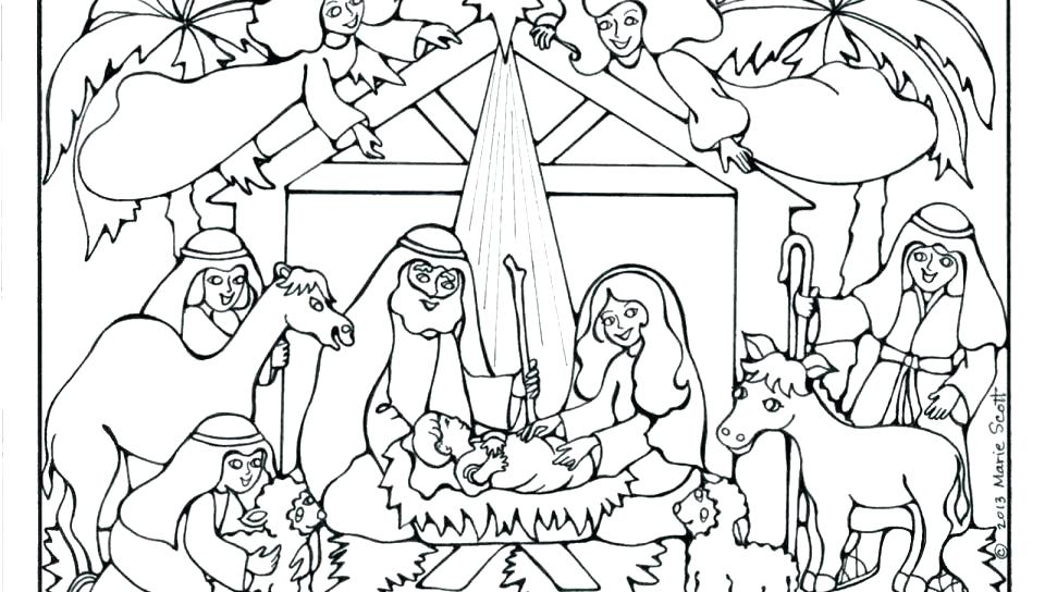 960x544 Free Nativity Coloring Pages For Kids Free Nativity Coloring Pages