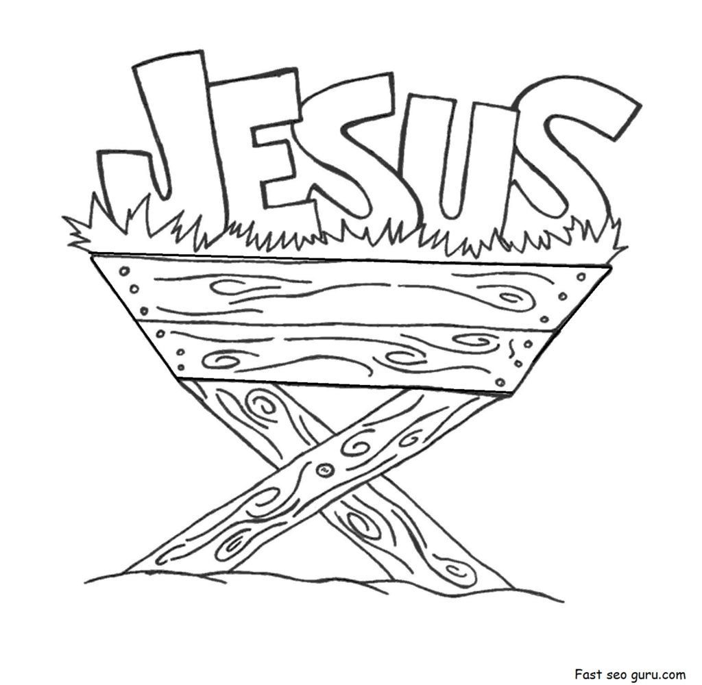 1024x1000 Manger Coloring Page Jesus For Children In The Pages Print Out