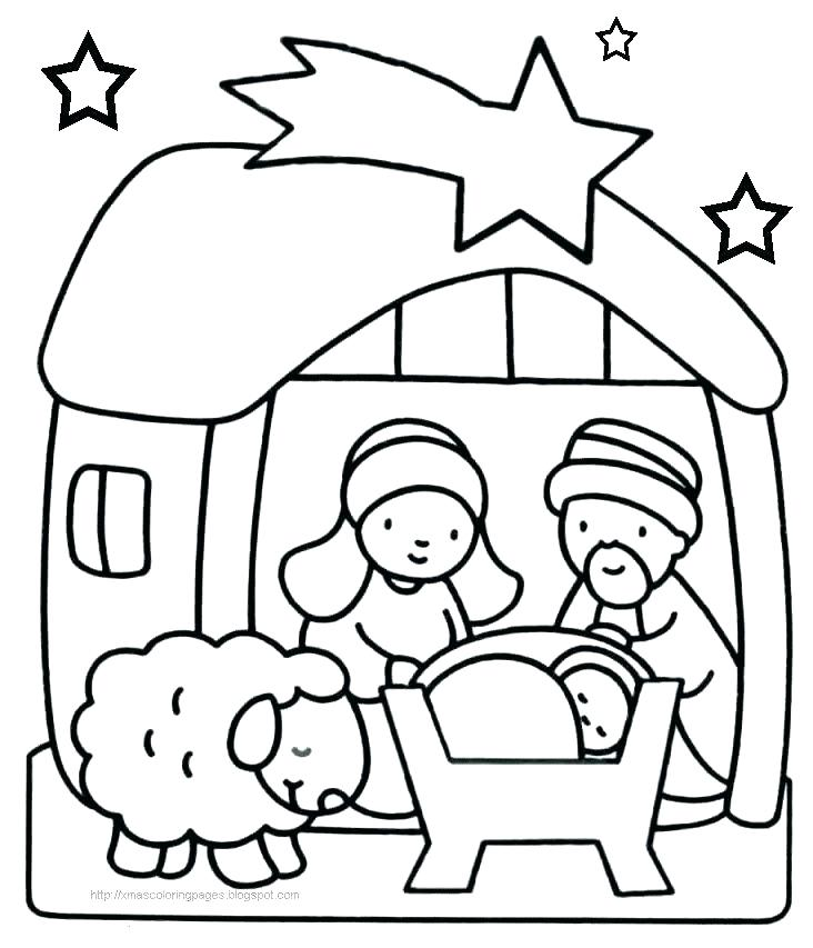 732x853 Nativity Coloring Page Manger Coloring Page Pictures Coloring Page