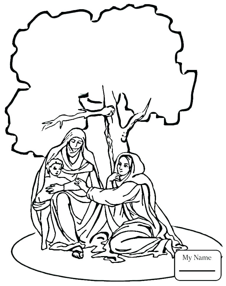 765x965 Nativity Coloring Page