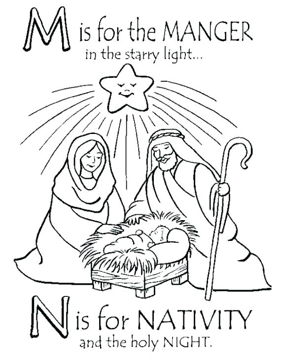 570x737 Manger Coloring Page Baby In Manger Coloring Page Manger Coloring