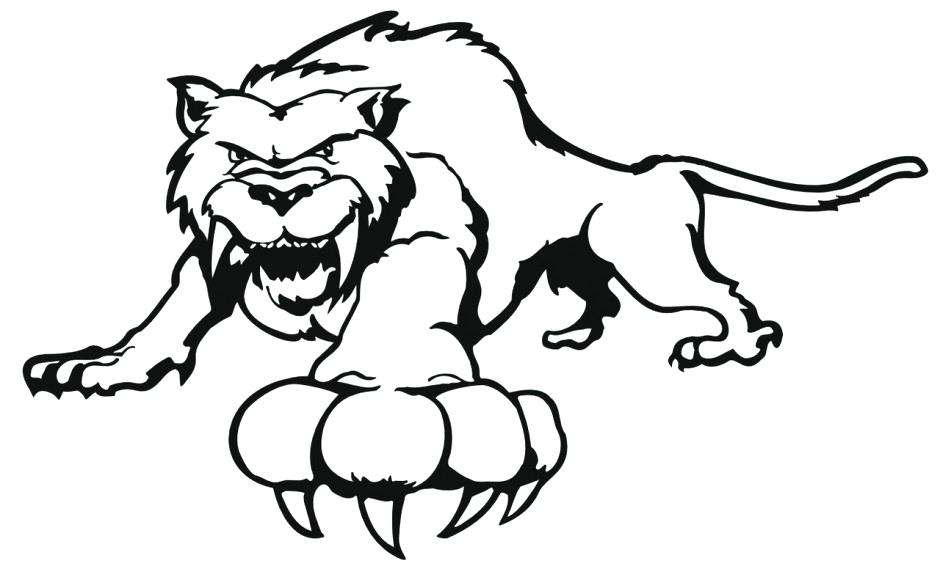 940x580 White Tiger Coloring Pages Clip Art Of A Black And White Coloring