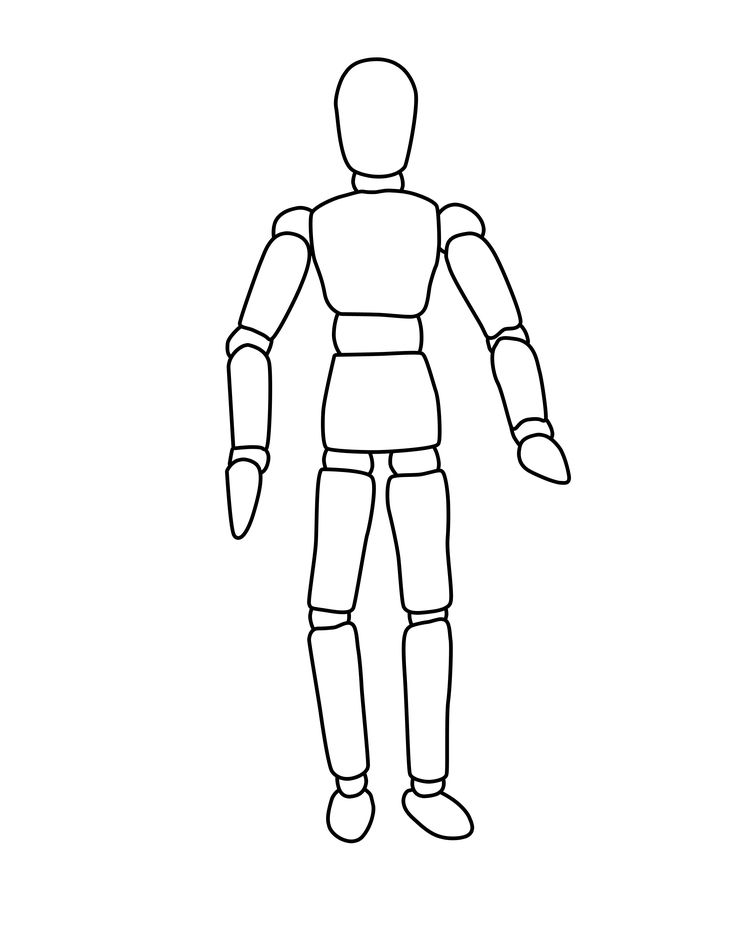 Mannequin Coloring Pages