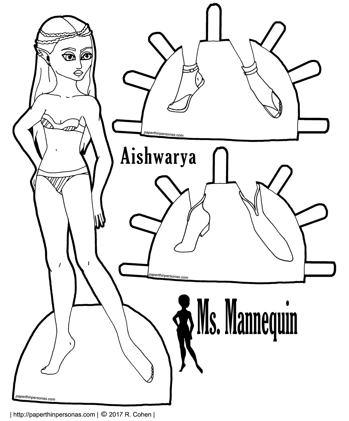 1152x1392 Aishwarya An Elven Printable Paper Doll Paper Dolls Clothing
