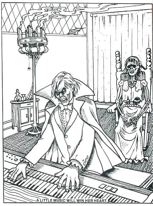 500x672 Haunted Mansion Coloring Pages Haunted Mansion Coloring Pages