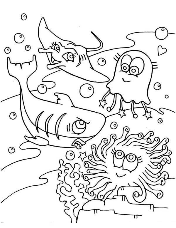 Manta Ray Coloring Page