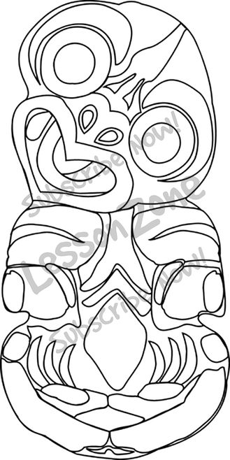 Maori Coloring Pages