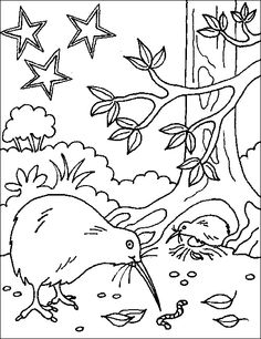 236x306 New Zealand Tui Bird Colouring Picture Magical Movers Crafts
