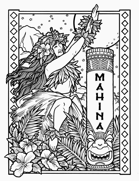 535x696 Polynesian Coloring Pages