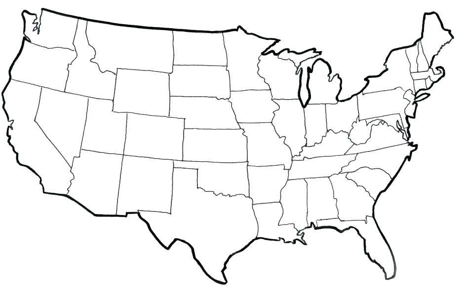 Map Of America Coloring Page.Map Coloring Pages At Getdrawings Com Free For Personal Use Map