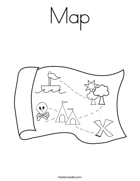 468x605 Map Coloring Page