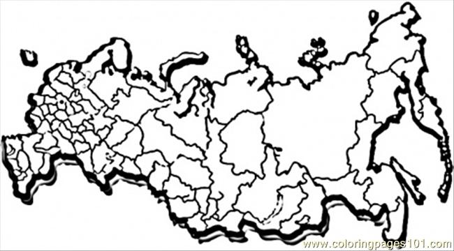 650x360 Map Of Great Russia Coloring Page