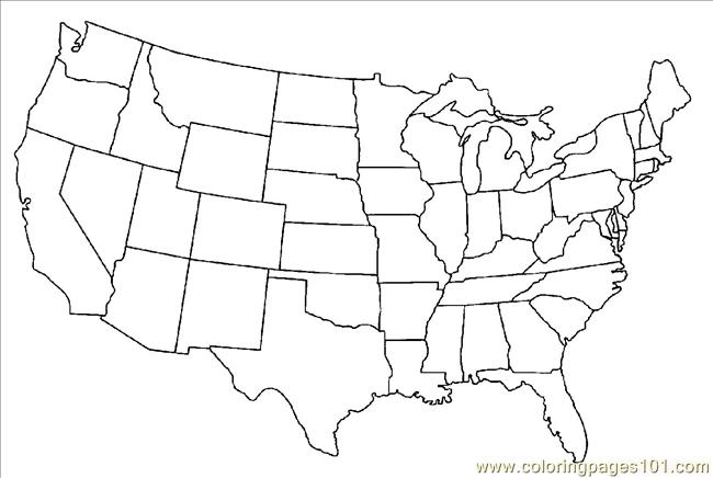 650x436 Ted States Map Coloring Pages Coloring Page