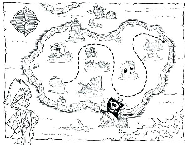 600x464 Treasure Map Coloring Pages Us Map Coloring Page Map Of Coloring