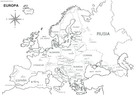 476x333 Europe Map Coloring Page Coloring Trend Medium Size Printable Map
