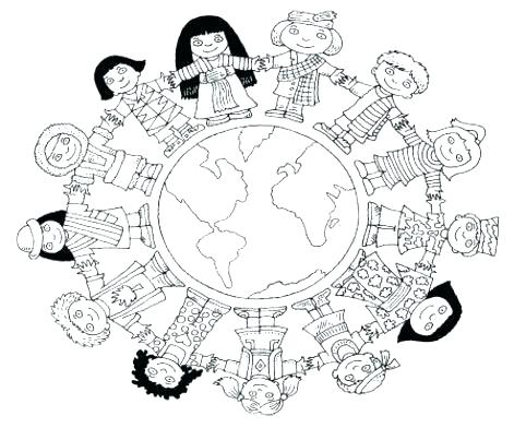 482x392 Map Coloring Pages World Coloring Pages Children Of The World