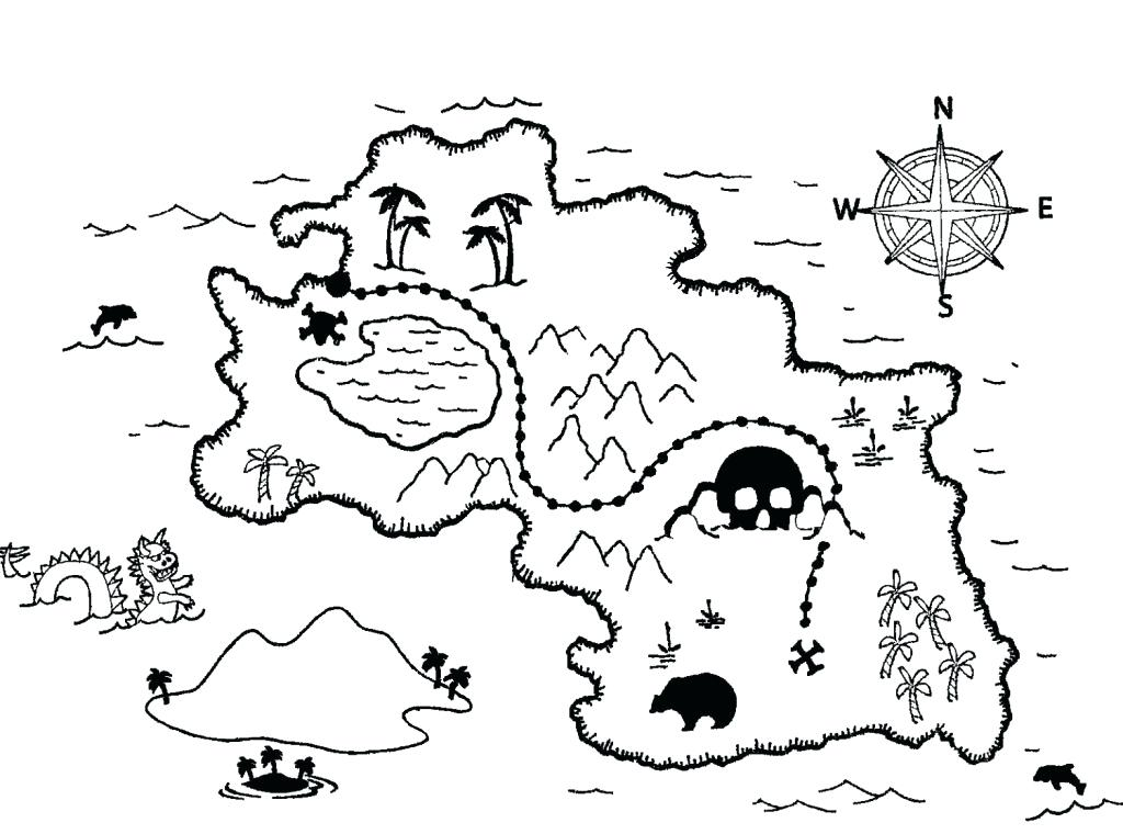 1024x760 Plus Treasure Map Coloring Pages Free Coloring Pages For Free