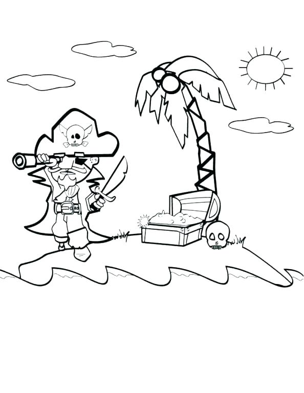 594x768 Treasure Map Coloring Page This Is Treasure Map Coloring Pages