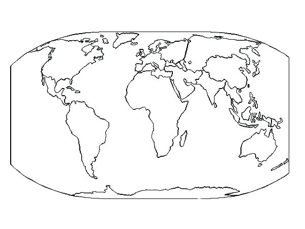 600x450 Coloring Pages World Map