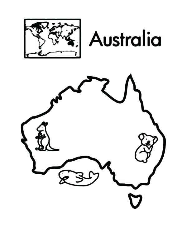 600x755 Continents Coloring Page
