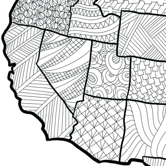 570x571 Coloring Pages Usa Coloring Pages Map Coloring Page Map Wall Art