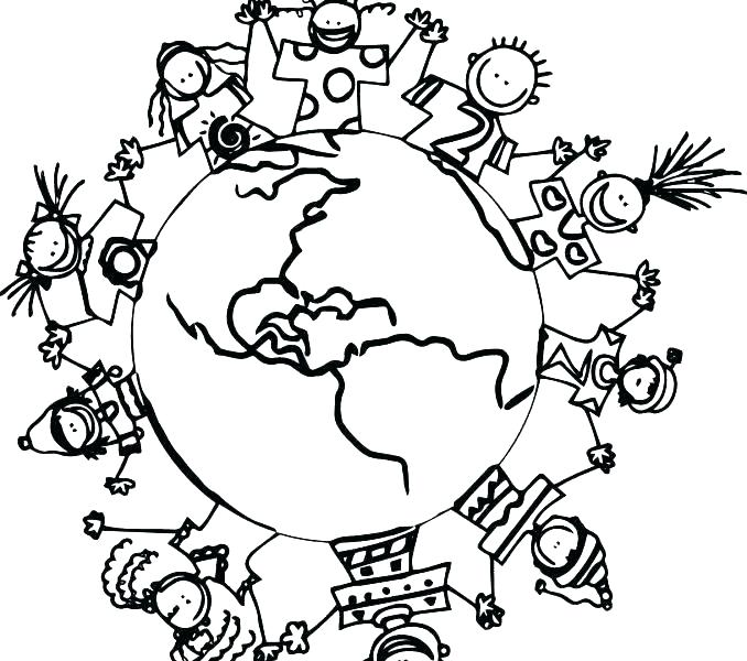 678x600 Map Coloring Pages Children Of The World Coloring Pages Fresh