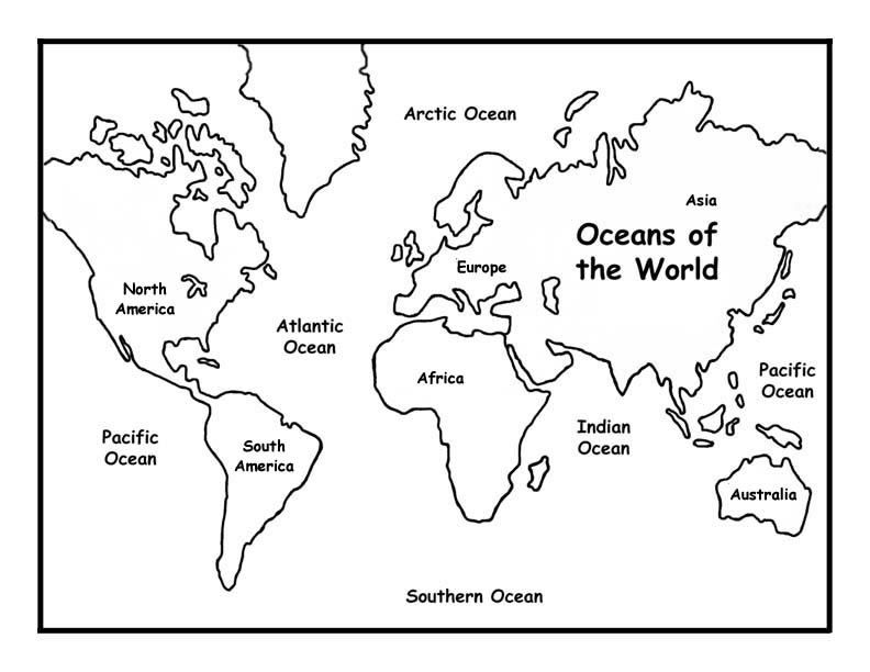 792x612 Oceans Of The World Coloring Page Jenny's Surprise Summer Before