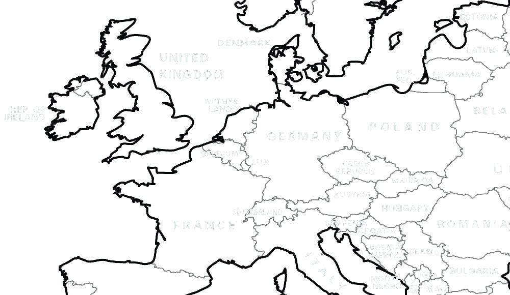 1000x580 Map Of The World Coloring
