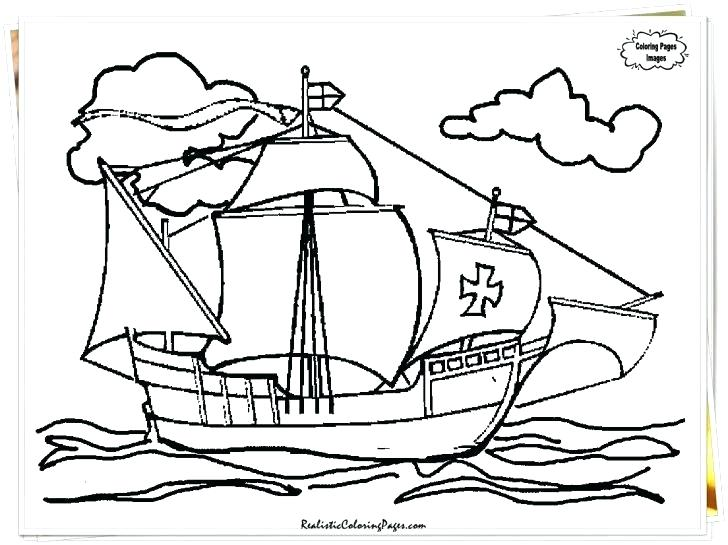 728x545 Christopher Columbus Coloring Page Coloring Pages For Kindergarten
