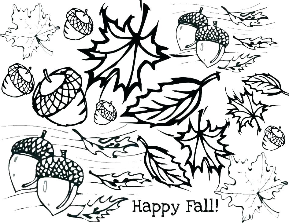 945x730 Free Coloring Pages Maple Leaf Fall Leaves Page