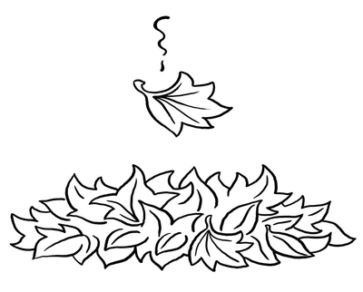 400x322 Maple Leaf Fall Coloring Page Image Clipart Images
