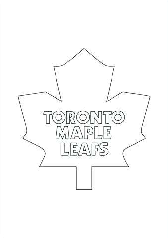 339x480 Maple Leafs Logo Coloring Page Free Printable Coloring Pages Maple