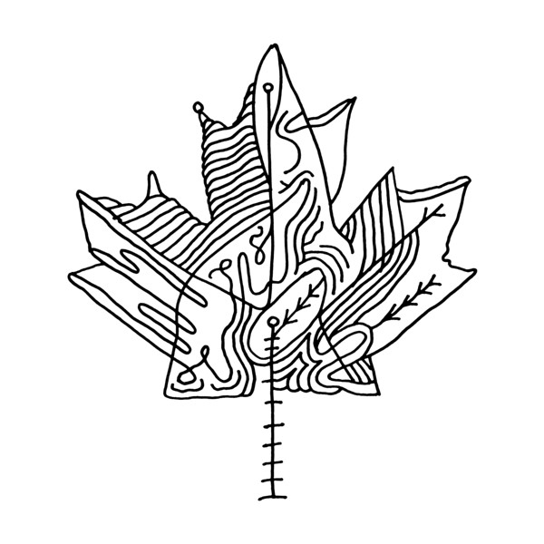 600x600 Leaf Coloring Pages Best Of Canadian Maple Leaf Adult Colouring