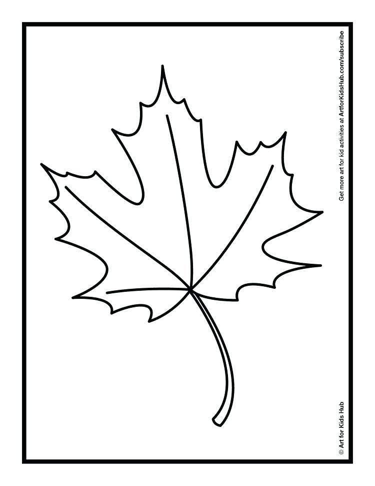 750x971 Fall Leaf Printable Leaves Coloring Pages Maple Leaves Fall Leaf