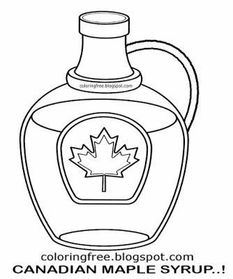 334x400 Maple Syrup Coloring Pages