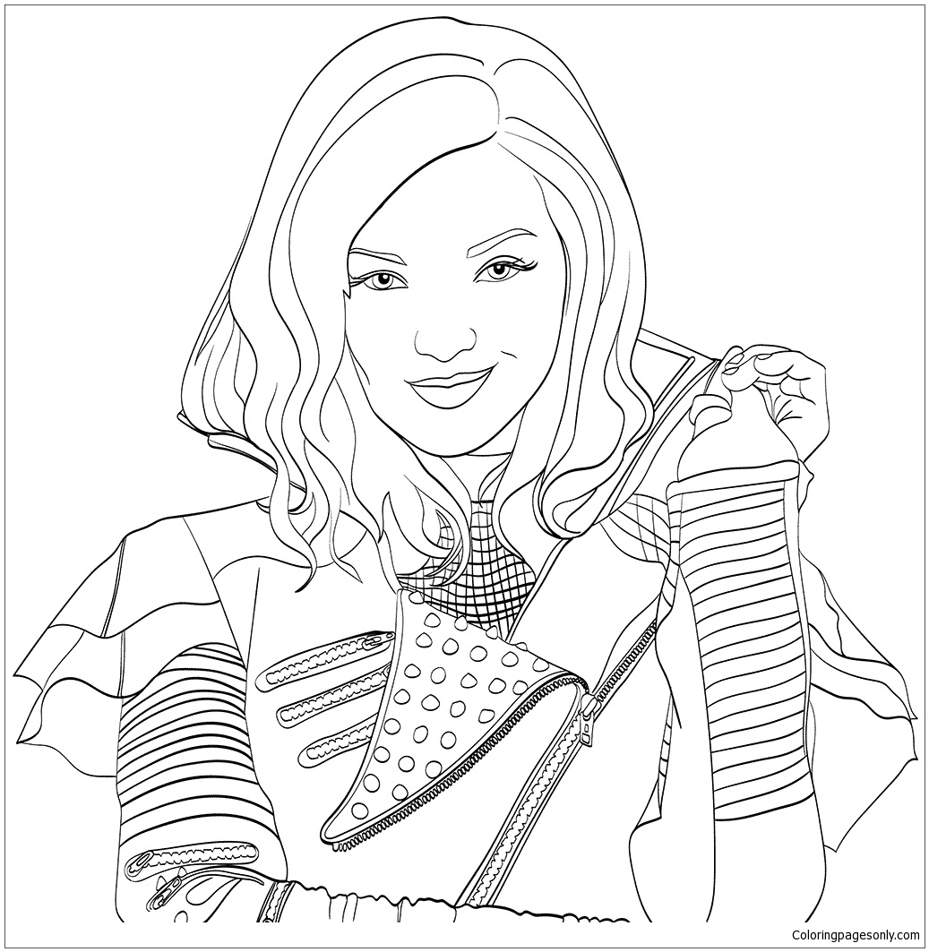 1037x1063 Descendants Disney Coloring Pages Printable Coloring For Kids