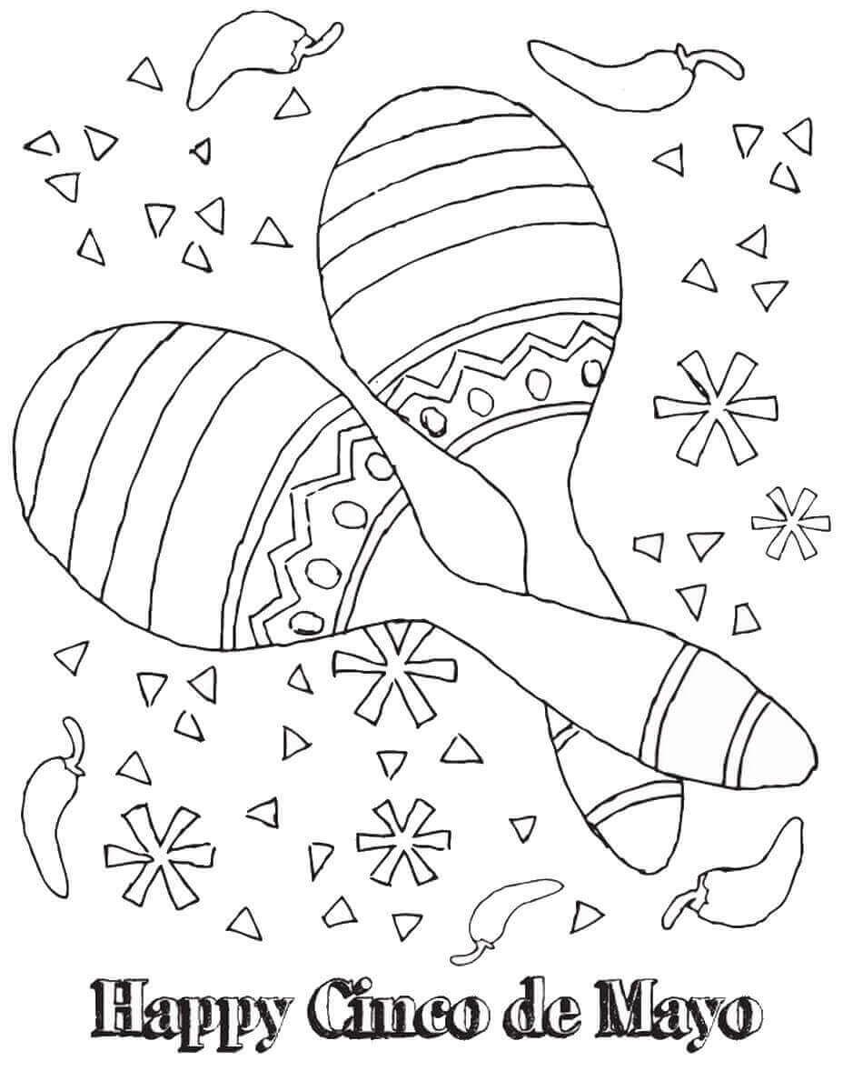 Maracas Coloring Page