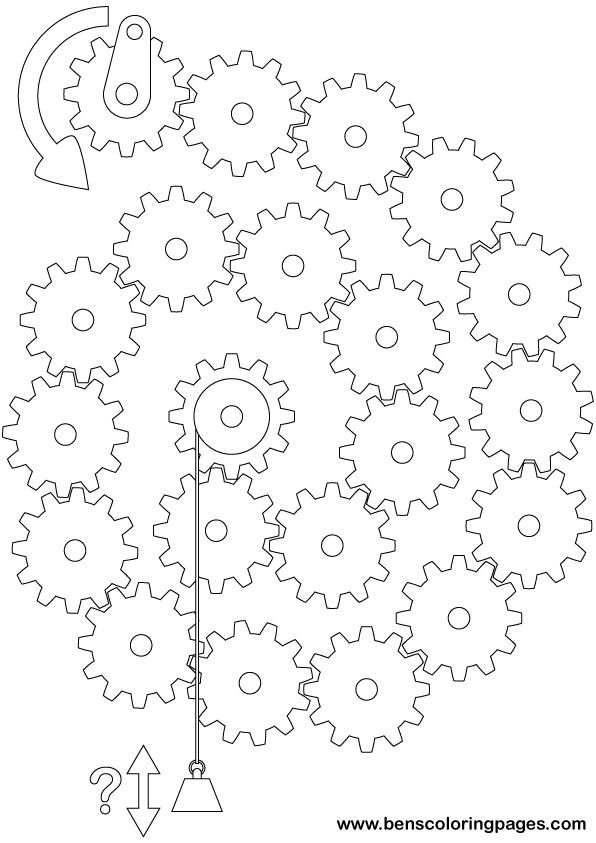 596x843 Simple Machines Coloring Pages