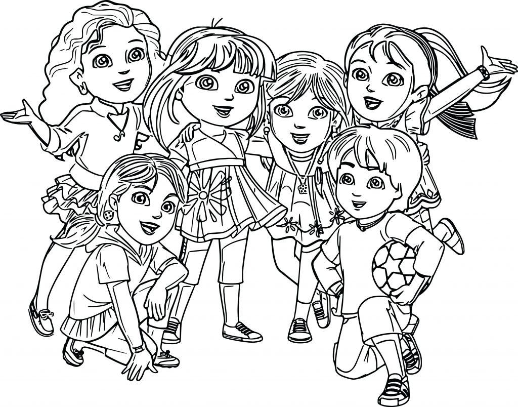 1024x804 Dora And Friends Coloring Pages Games New Beautiful Marble