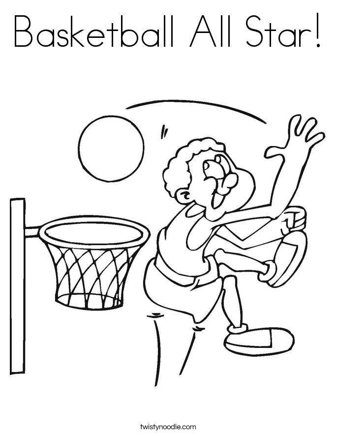 March Madness Coloring Pages