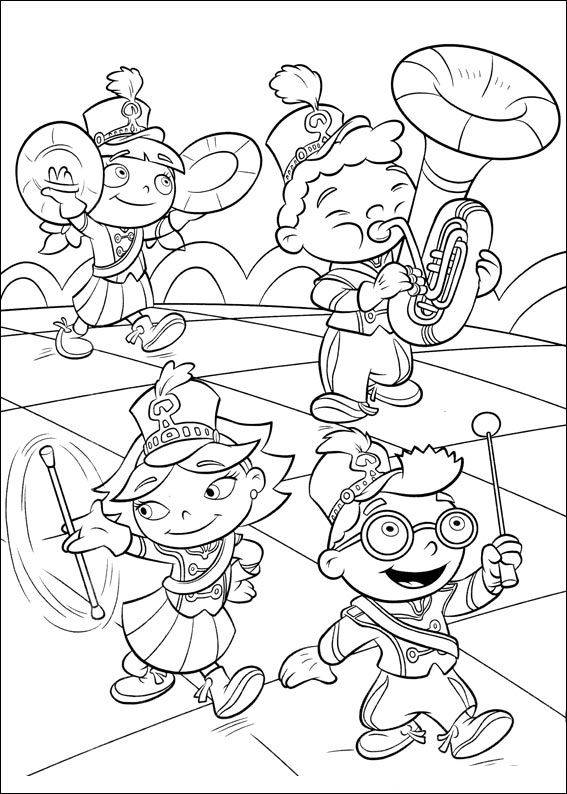 567x794 Little Einsteins Be A Marching Band Little Einsteins Coloring