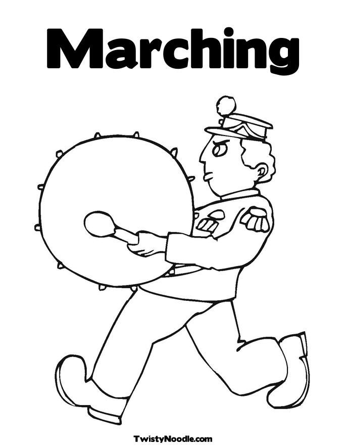 685x886 Marching Band Coloring Pages