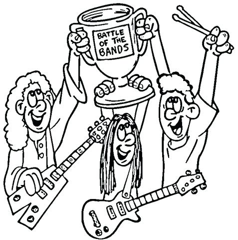 477x480 Marching Band Coloring Pages Click To See Printable Version