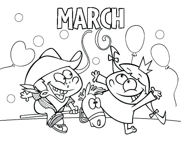 600x470 Marching Band Coloring Pages Coloring Pages For March Astounding