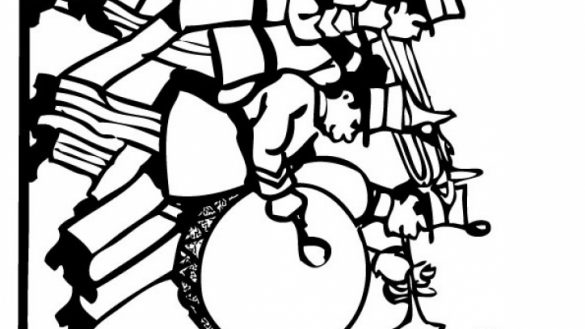 585x329 Marching Band Coloring Pages Drawing Marching