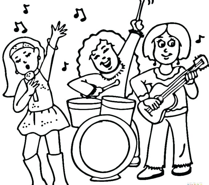 678x600 Astounding Marching Band Coloring Pages Print Marching Band