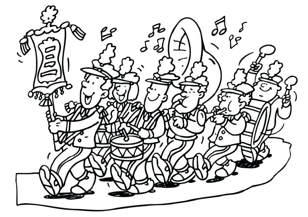 1024x723 Marching Band Coloring Pages Marching Band Colouring Pages