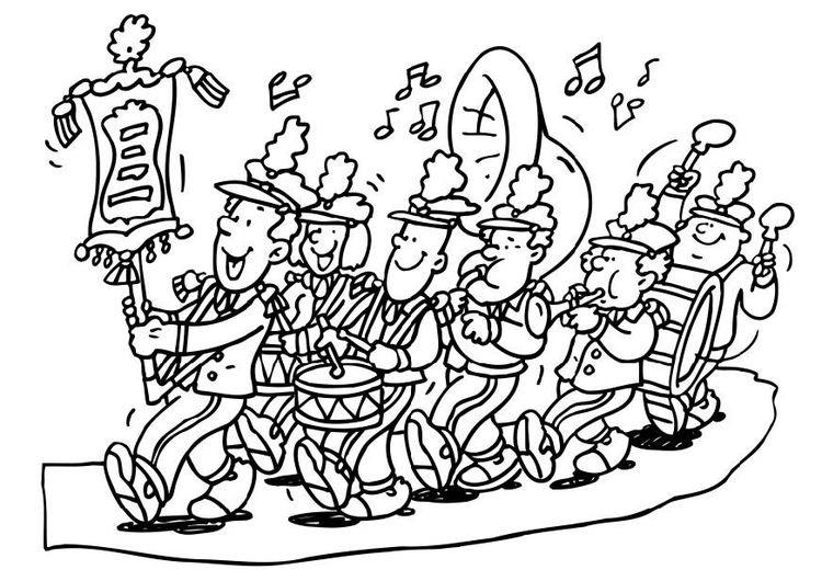 750x530 Coloring Page Marching Band