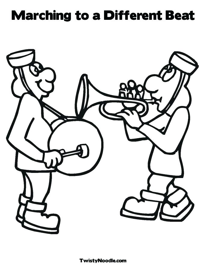 685x886 Kiss Band Coloring Pages Marching Colouring Page Coloring