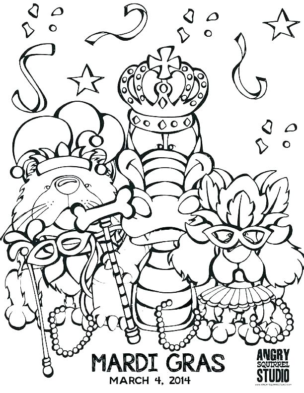 Mardi Gras Beads Coloring Pages at GetDrawings.com   Free ...